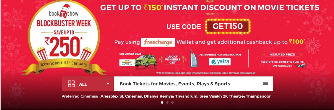 BookMyShow brings back Blockbuster week campaign with upto Rs 150 discount