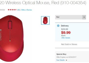 Logitech M320 wireless optical mouse available in four color variants at an unbeatable price