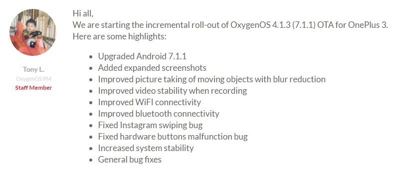 OxygenOS 4.1.3