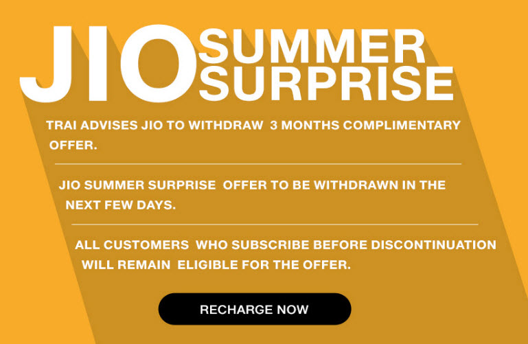 Reliance Jio Summer Surprise