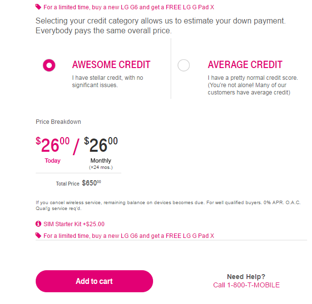 T-Mobile Awesome Credit