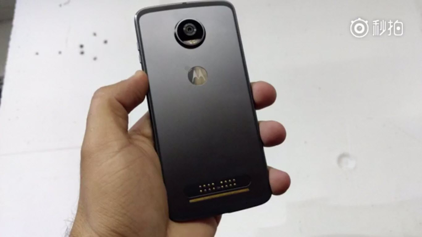 Moto Z2 Play rear side