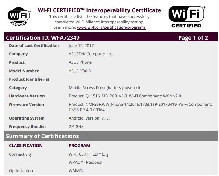 Asus ZenFone 4 Max Wi-Fi