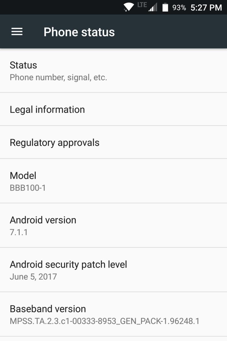 BlackBerry KeyOne June Security Update