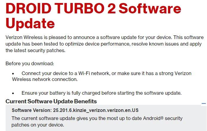 Moto Droid Turbo 2 Update