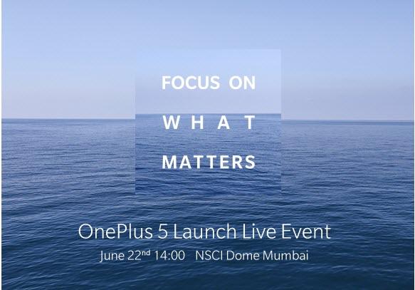 OnePlus 5 launch invite