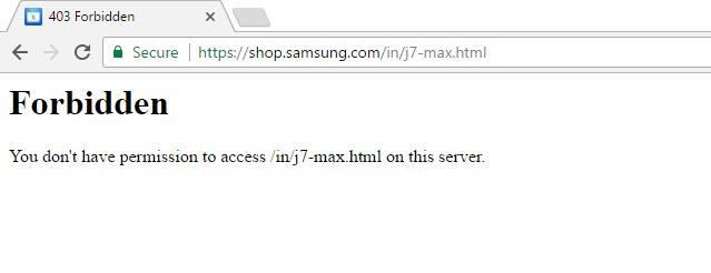 Samsung Galaxy J7 Max Error