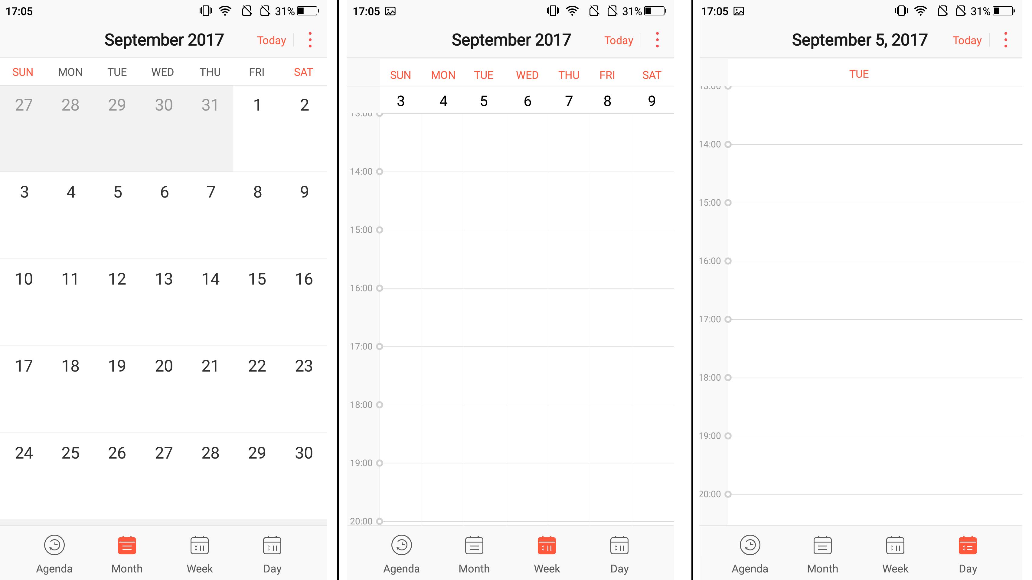 ELE OS 1.0 Calendar
