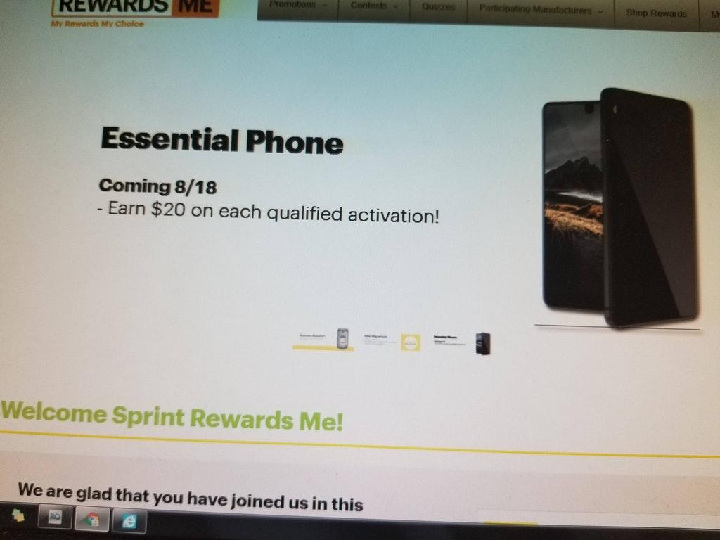 Essential Phone Sprint