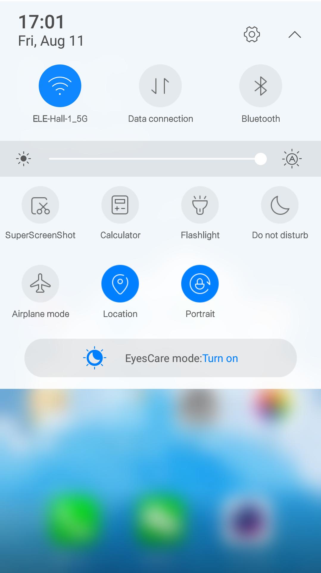 ELE OS 1.0 Eyecare mode