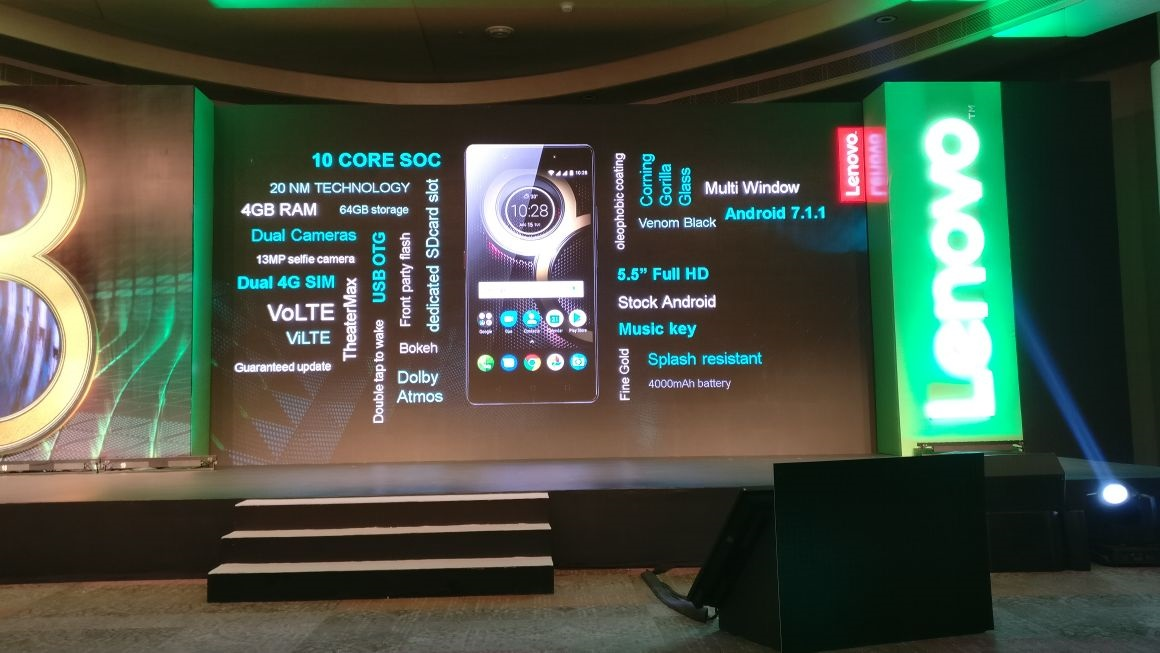 Lenovo K8 Note Features