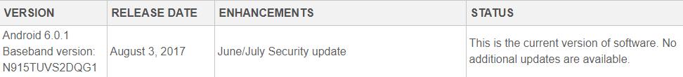 Samsung Galaxy Note Edge Update