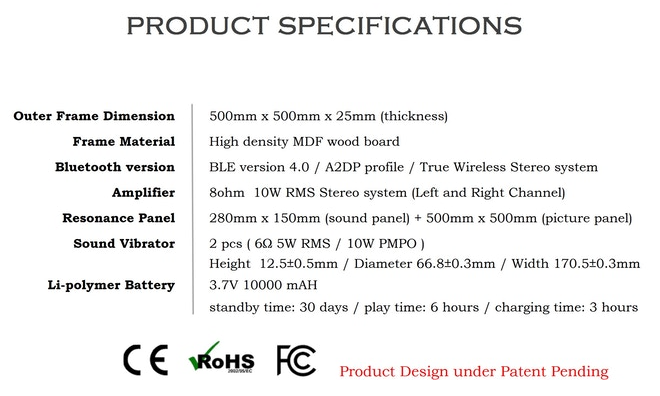 VisualSonic Specifications