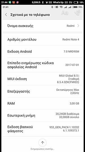 Xiaomi Redmi Note 4 Update