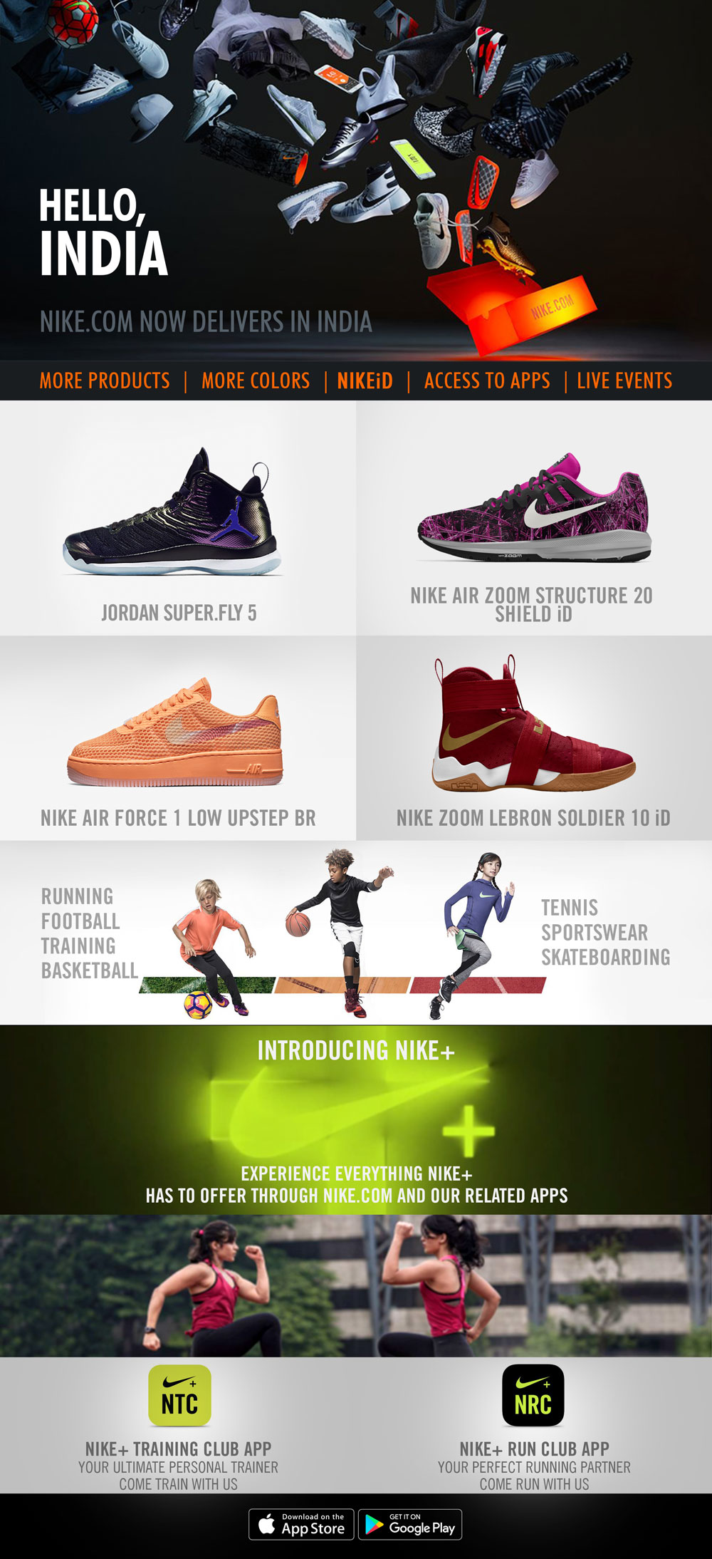 Nike Com Launches Exclusive Delivery Service In India