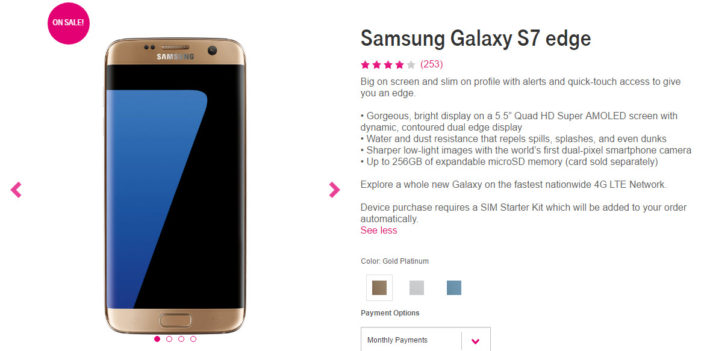 T-Mobile Slashes Samsung Galaxy S7 edge Price With An Exciting Offer