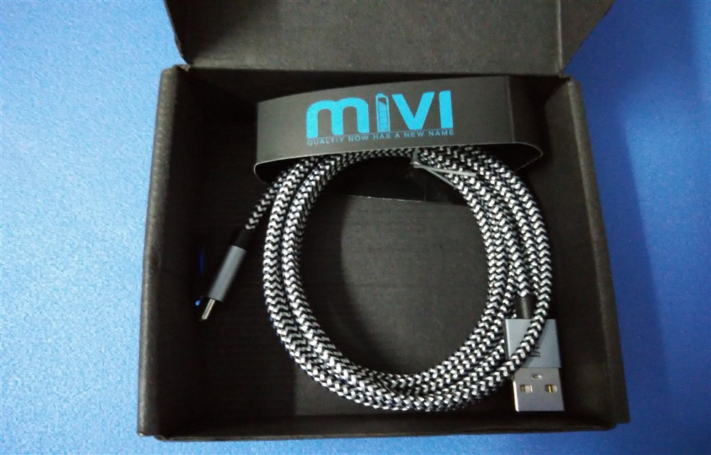 Mivi Nylon Braided Original Type C To USB A Cable