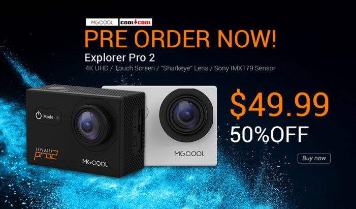 Coolicool: Pre-order MGCOOL Explorer Pro 2 4K Action Camera for $49.99, 50% OFF
