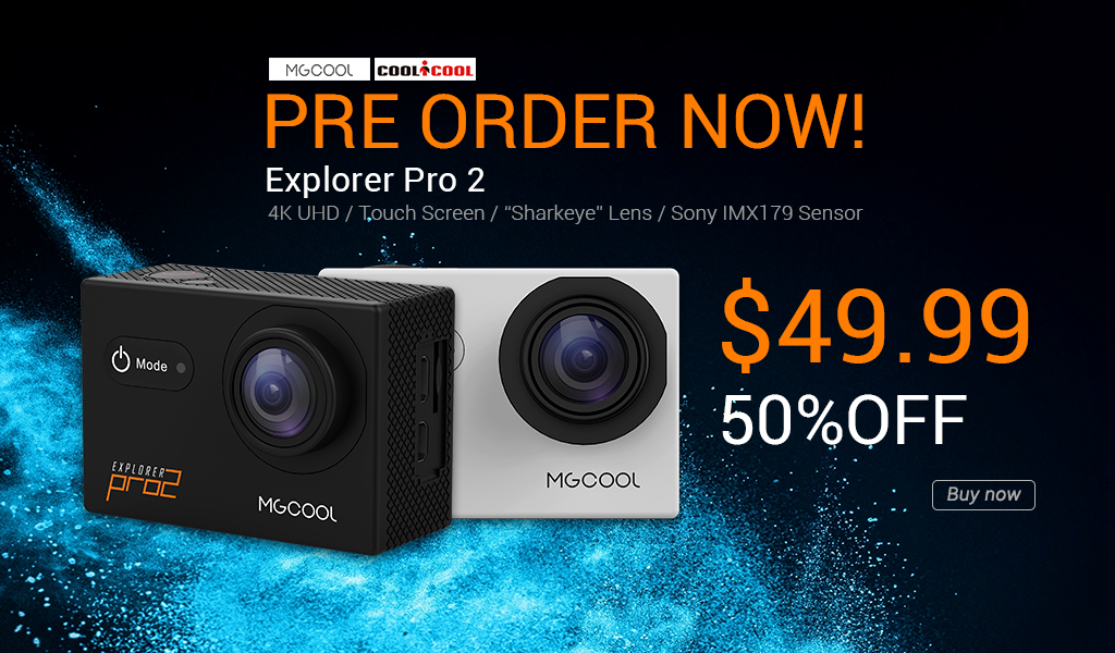MGCOOL Explorer Pro 2 action camera 4k