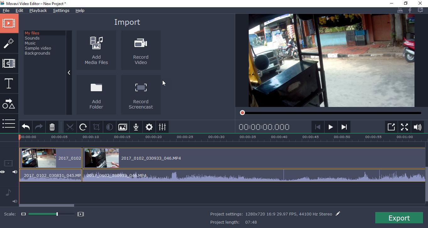 Movavi Video Editor Preview