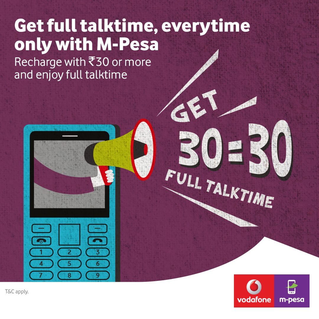 Vodafone M-Pesa recharge offer