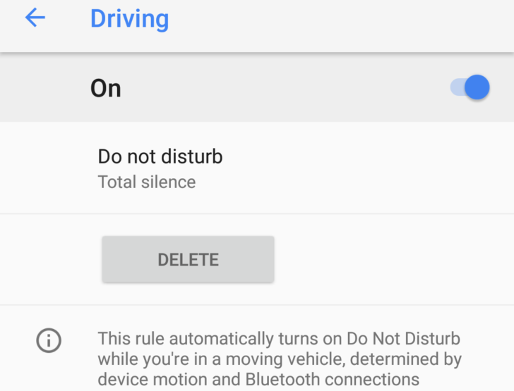 Google Pixel 2 Do Not Disturb