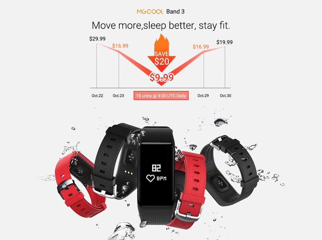 MGCOOL Band 3 Flash Sale