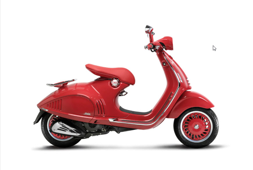 Vespa RED Special Edition Scooter