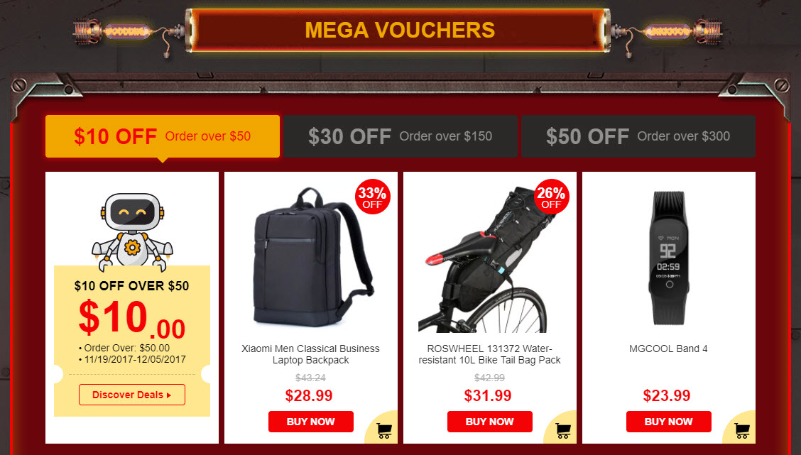 Black Friday Gearbest Mega Vouchers