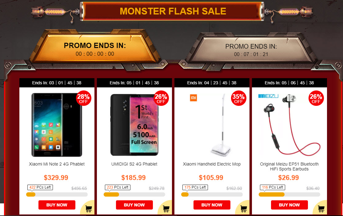 Black Friday Gearbest Monster Flash
