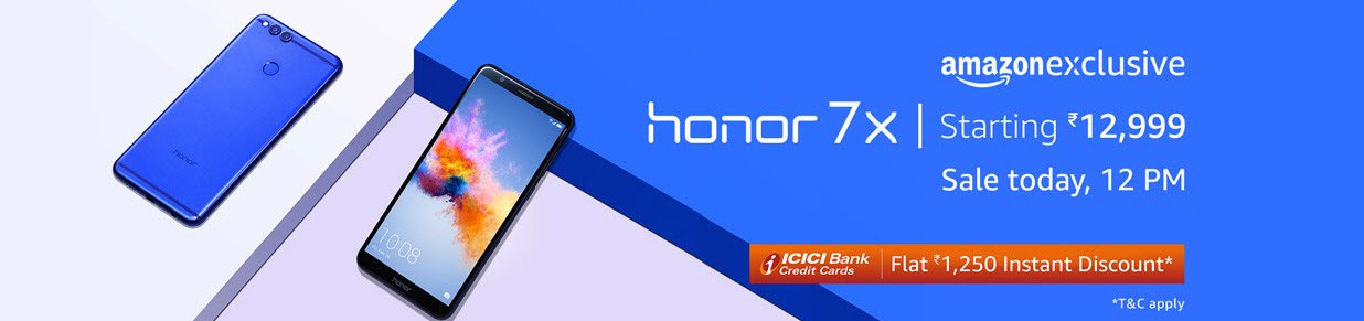 Honor 7X sale