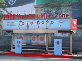 Vodafone Free Wi-Fi Enabled Bus Shelter