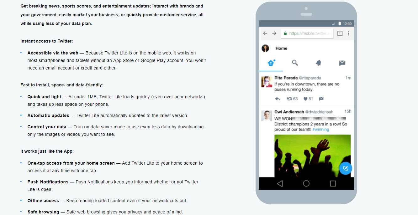 Twitter Lite releases in 24 more countries