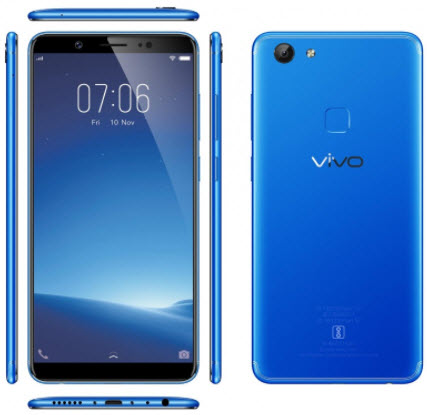 Vivo V7 front and back