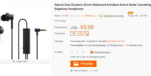 Xiaomi Dual Dynamic Driver+Balanced Armature Active Noise Cancelling Earphone Headphone