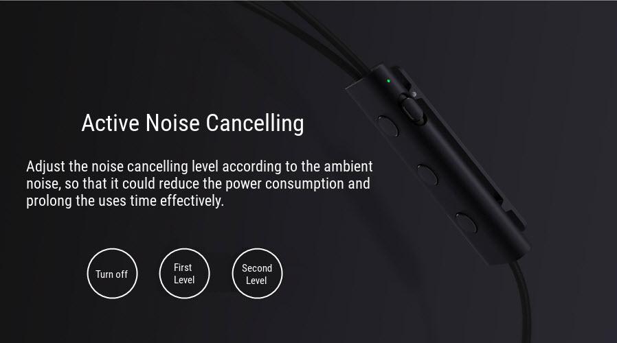 Xiaomi Dual Dynamic Driver+Balanced Armature Active Noise Cancelling Earphone Headphone noise
