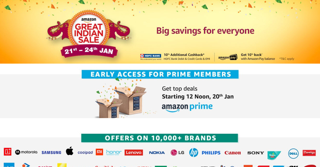 Amazon reveals Great India Sale deals on smartphones