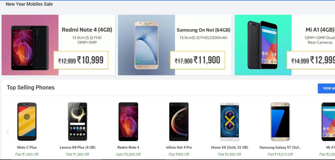 Flipkart New Year Mobiles Sale