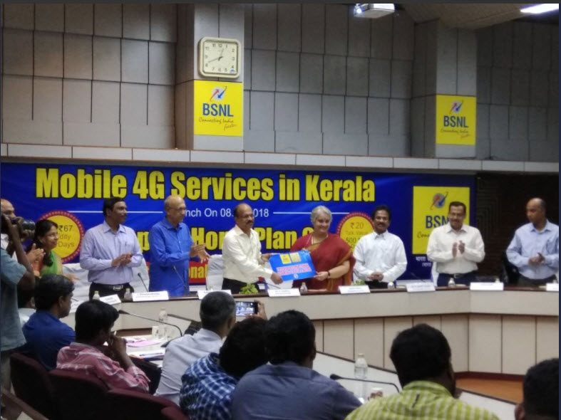 BSNL Rolls Out 4G Services in India From Kerala