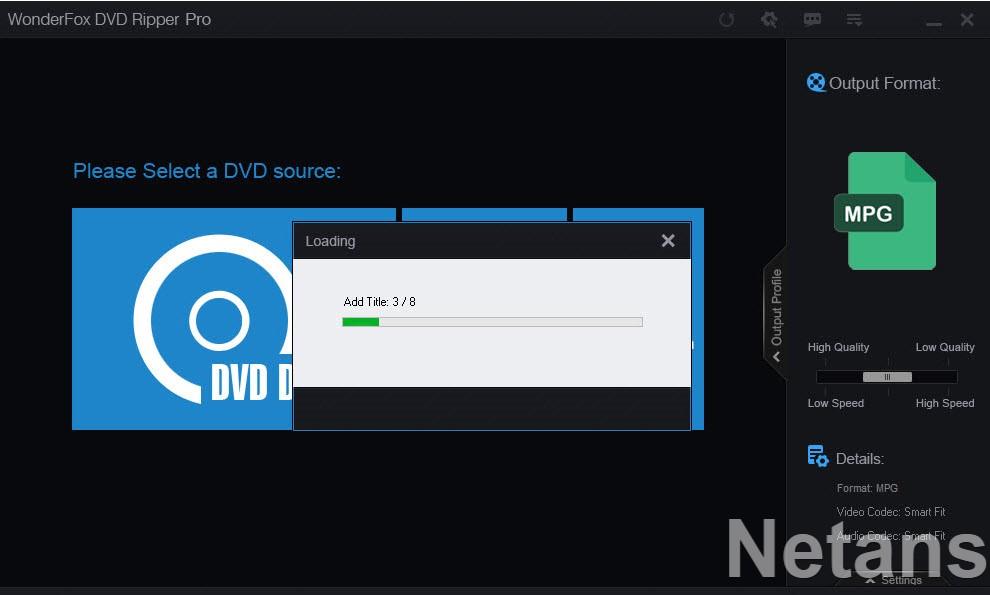 WonderFox DVD Ripper Pro progress