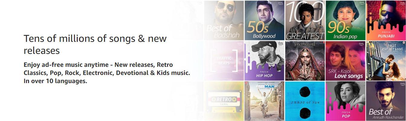 Amazon Prime Music songs