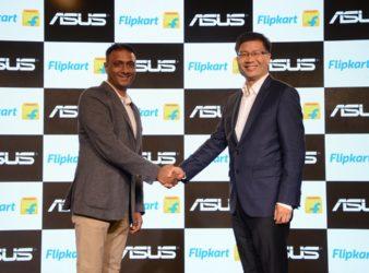 (Left to Right) Kalyan Krishnamurthy, CEO, Flipkart, Jerry Shen, CEO, ASUS TEK Computer INC