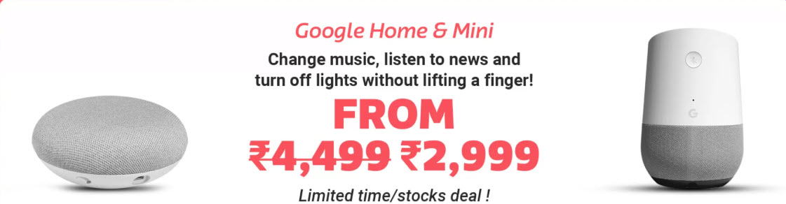 Google Home MIni Flipkart
