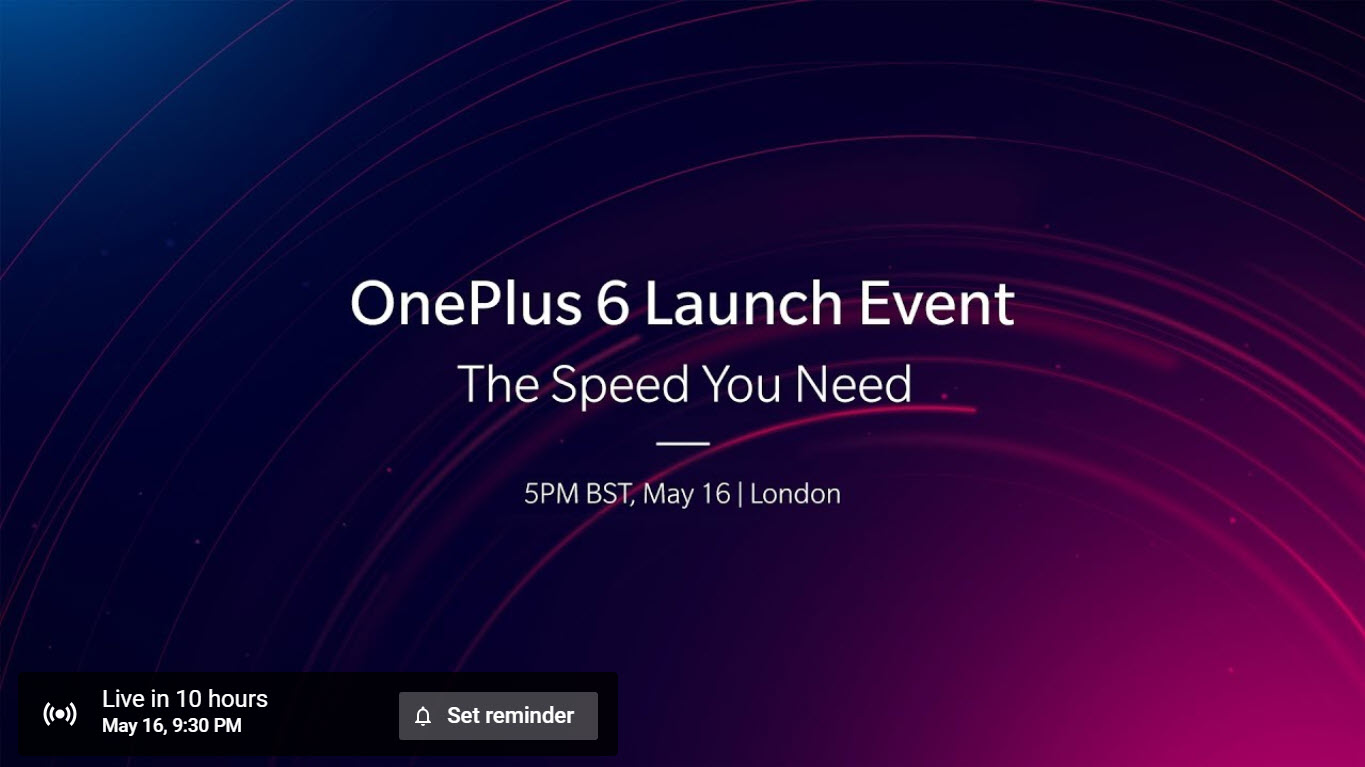 OnePlus 6 flagship smartphone will be unveiled today