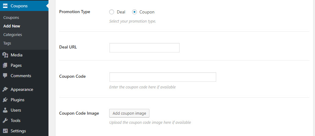 Coupon WordPress theme