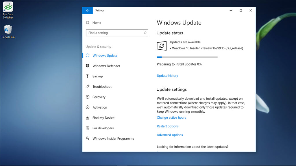 Microsoft Windows 10 Insider Preview