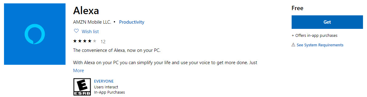 Amazon Alexa Reaches Windows 10 Devices With Limited