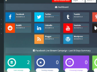 SociLive Stream Dashboard