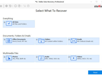 Stellar Data Recovery first dashboard